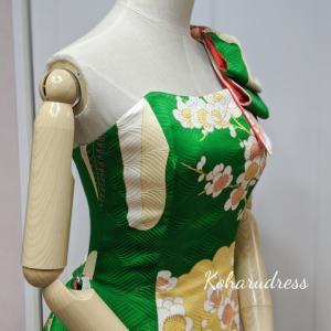 振袖からソフトマーメイドドレスが完成致しました♡