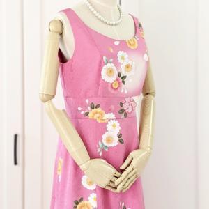 ベーシックラインLサイズ♡マゼンタピンクの華やか振袖ドレス♡