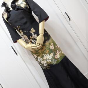 【お客様の声】新婦御母さまの黒留袖ドレス♡娘にも見せたらとてもいいと言っていました♡