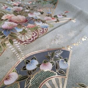 品の良い一重のお着物からオーダードレス製作中♡