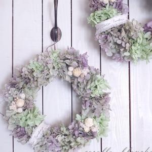 オススメ!!紫陽花のリース♪