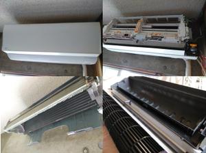 エアコンの設置状況で分解が難易度が増します