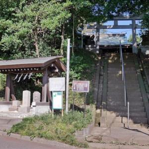 大蔵氷川神社の庚申塔(世田谷区大蔵)