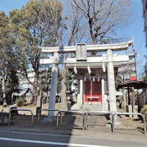 市杵島神社の石仏(練馬区豊玉北)