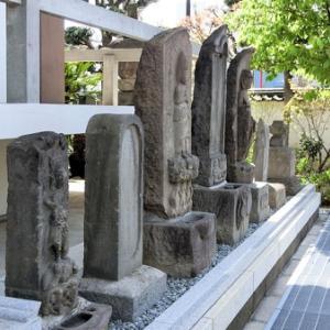 遍照院の庚申と石仏(大田区多摩川)