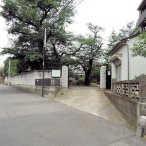 自証院の板碑と庚申塔(新宿区富久町)