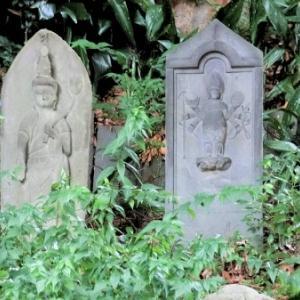 目黒不動龍泉寺の庚申石仏(2)(目黒区下目黒)