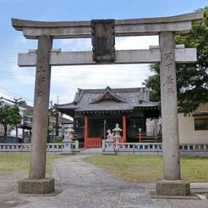 新田神社の庚申塔(足立区新田)