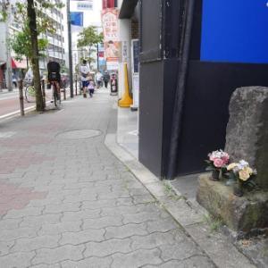 下赤塚駅前の角柱庚申塔(板橋区赤塚)