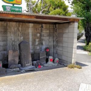 東京ガス裏の石仏(荒川区南千住)