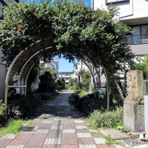 上篠崎柳島の庚申塔河原道石造道標(江戸川区上篠崎)