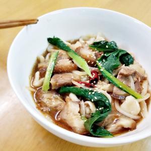 豚の頭しょうゆ麺(^_-)-☆