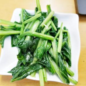 『小松菜の大蒜炒め』(^_-)-☆