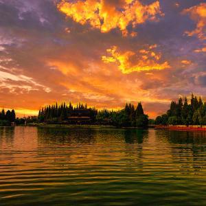 湖面の夕景☆彡