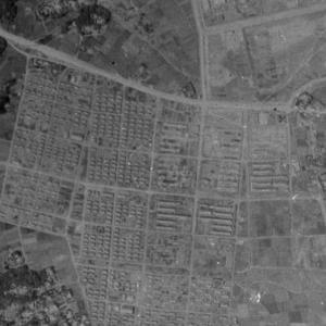 航空写真で追う旧三菱重工熊航宿舎跡地