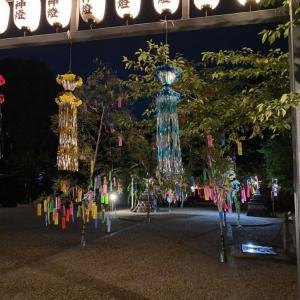 富部神社 参道夜市