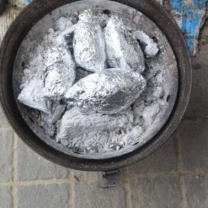 安納芋、BBQ焼きにてうっめェ~
