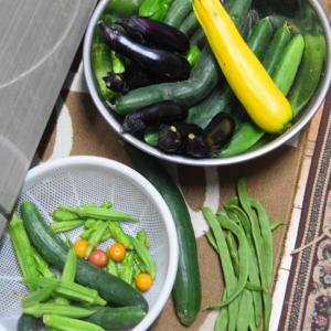 収穫野菜でキチンドランカーして呑んでます