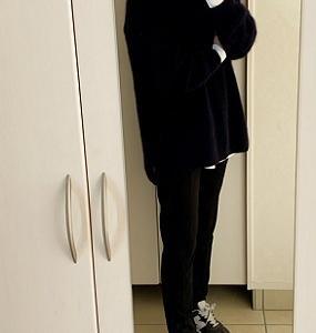 【コーデ】 この冬お気に入りニット&ロングTシャツ