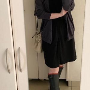 【雨の日コーデ】 ユニクロU色違いコーデ☆+JのVネックカーディガン良いです