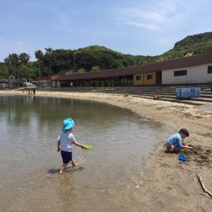 息子達と連休のお出かけ 砂浜遊び