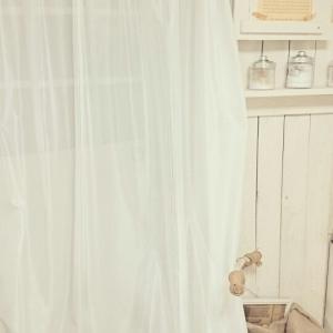 真っ白カーテンで虫除け*
