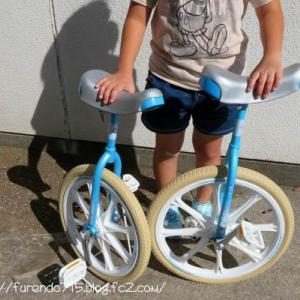 補助輪なし自転車からリップスティックボードを経て一輪車に・・・♪