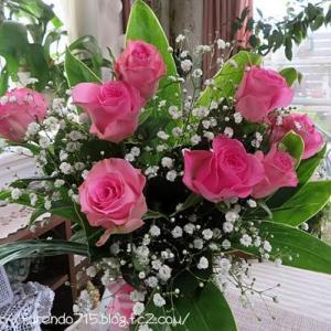 記念日のバラをドライにして残しましょう・・・♪