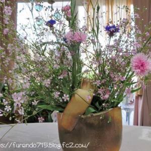 JAの花、300円でリビングは春の華やかさです・・・♪
