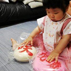 Saki・一升餅とキティちゃんパンツ・・・♪