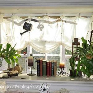 出窓の秋モードはクリスマス飾り迄のひと時です・・・♪