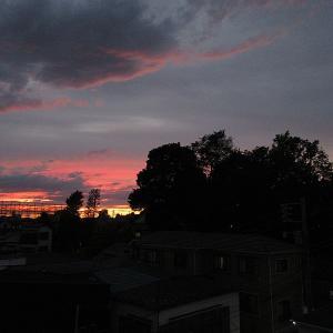 空がいい感じの色だったので19時閉店後も屋上でパワーをもらう(笑)