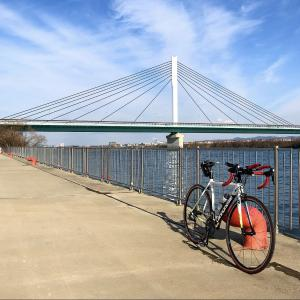 冬の淀川ライド