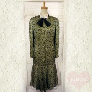 レオパード リボン付きワンピースドレス