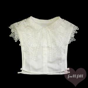 薔薇刺繍の大きな付け襟