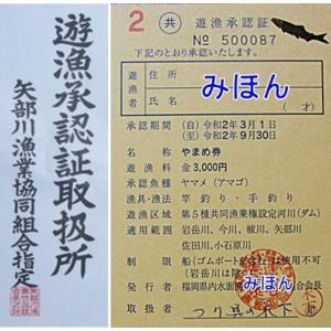 2020年度遊漁承認証販売開始 福岡県内共通券