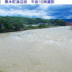 矢部川の水量と風景