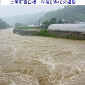 星野川夕方の水量&今日も河川は大荒れ