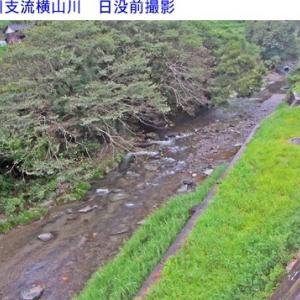 横山川の水量