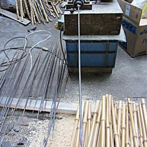 布袋竹の節抜き