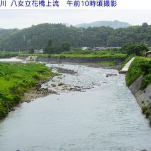 矢部川&朝の水量