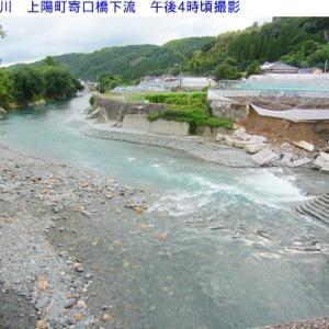 星野川の水量  8月21日