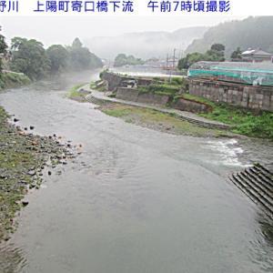 星野川 朝の水量 8月24日