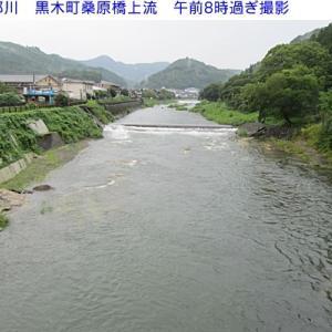 矢部川 朝の水量の