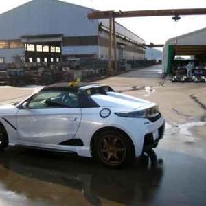 三カ月ぶりかの洗車で長良川堤防