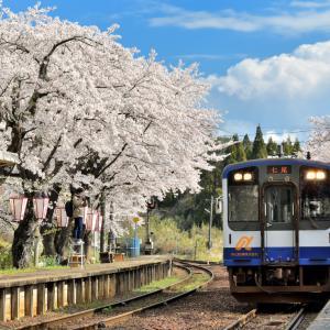 満開のさくら景色に祝福された能登半島屈指の桜スポット「能登さくら駅&のと鉄道七尾線」