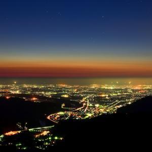 白山市と金沢市を結ぶ犀鶴(さいかく)林道  実は隠れ夕景&夜景スポットなのでした(;゚Д゚)!