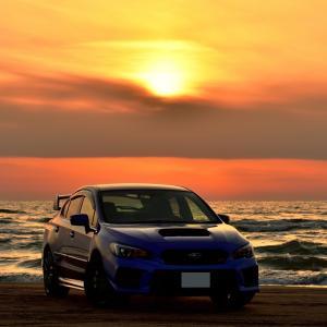 空と海と大地が黄金色に染まるセカイが美しい千里浜なぎさドライブウェイでまったり愛車撮影を楽しんできました~(*'▽')♪
