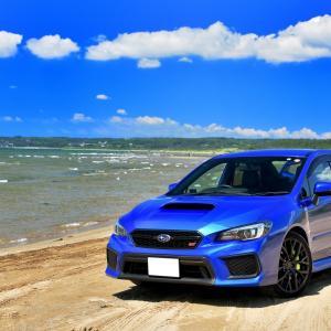 夏色の蒼空と羽咋ブルーのちゅら海が美しい千里浜なぎさドライブウェイで、まったり愛車撮影