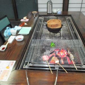 囲炉裏の晩餐
